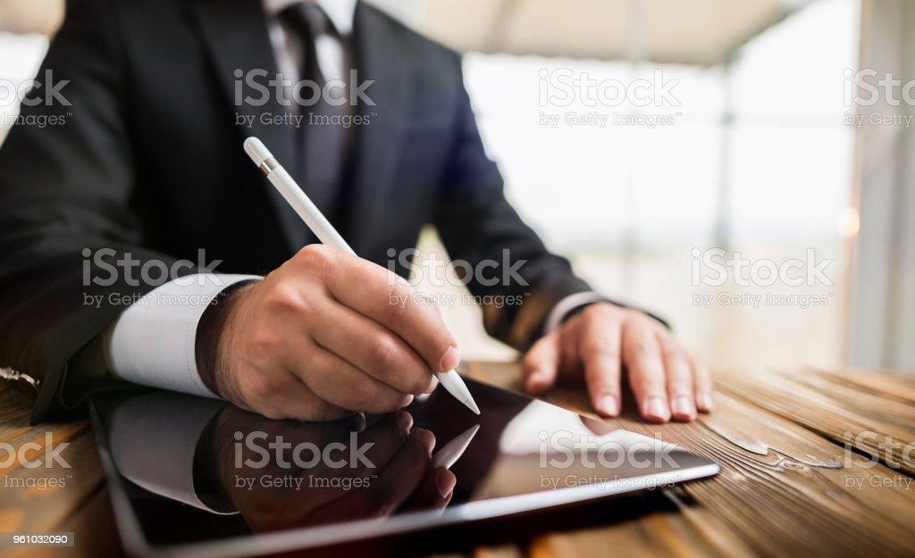 Digitale Signatur Konzept Tablet mit Stylus-Stift – Foto