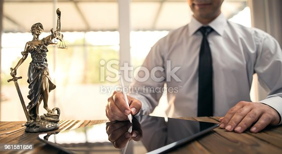 494762574istockphoto Digital Signature Concept with Tablet and Stylus Pen 961581656