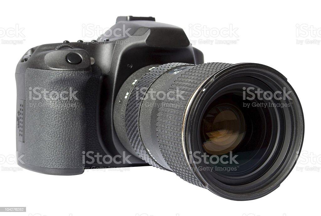 Digital SLR Camera Isolated On White stock photo
