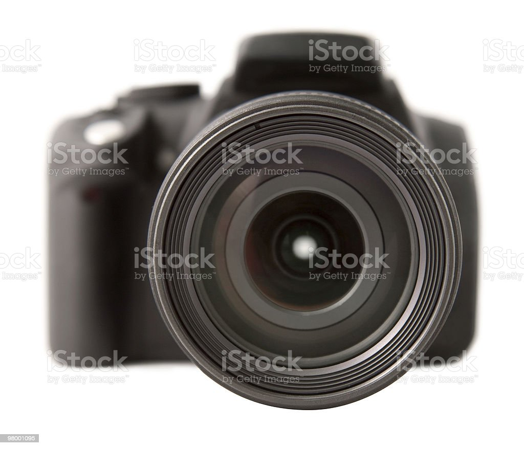 Digital SLR front royalty-free stock photo