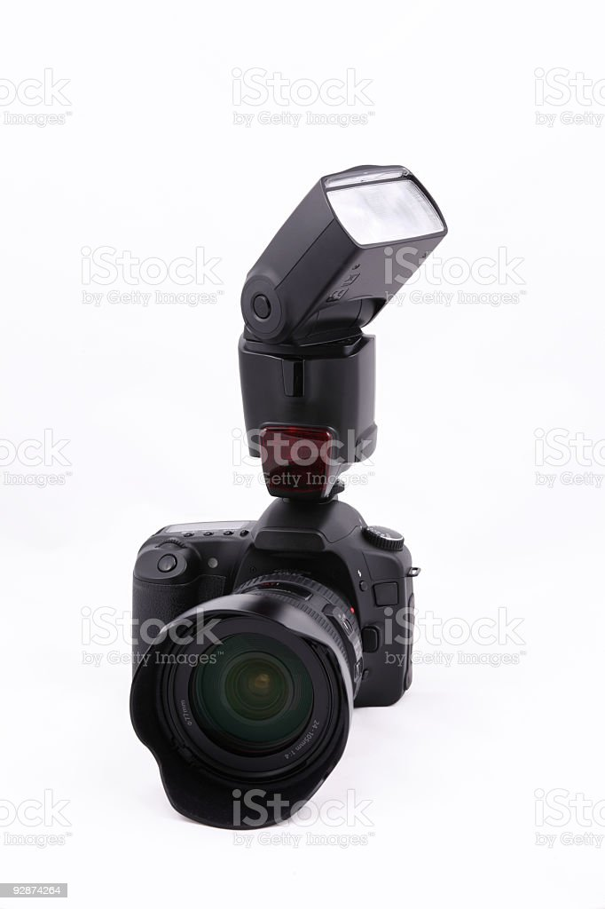 Digital SLR with Flash royalty-free stock photo