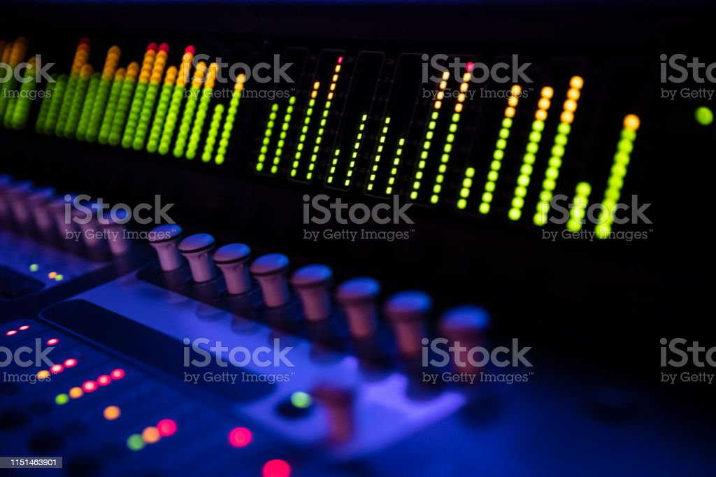 Dark view of new digital sound mixer