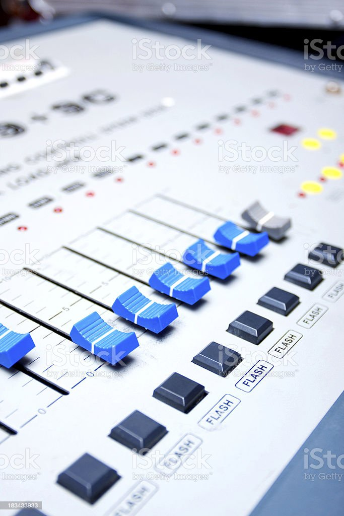 Digital Sound Mixing Console royalty-free stock photo