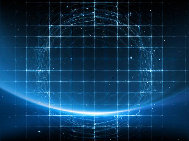 espace numérique - cercle concentrique photos et images de collection