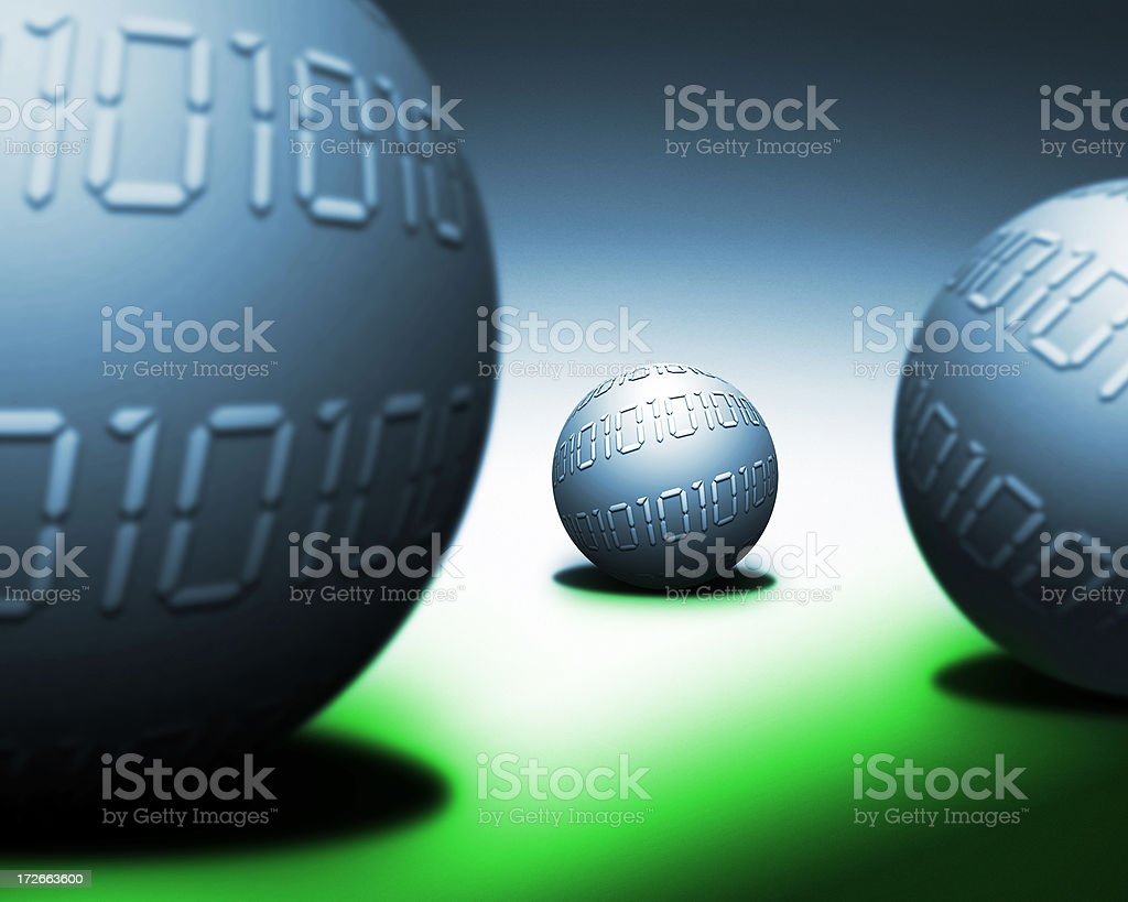 Digital Spheres royalty-free stock photo