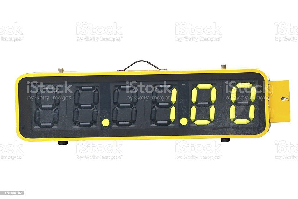digital sport hourmeter stock photo