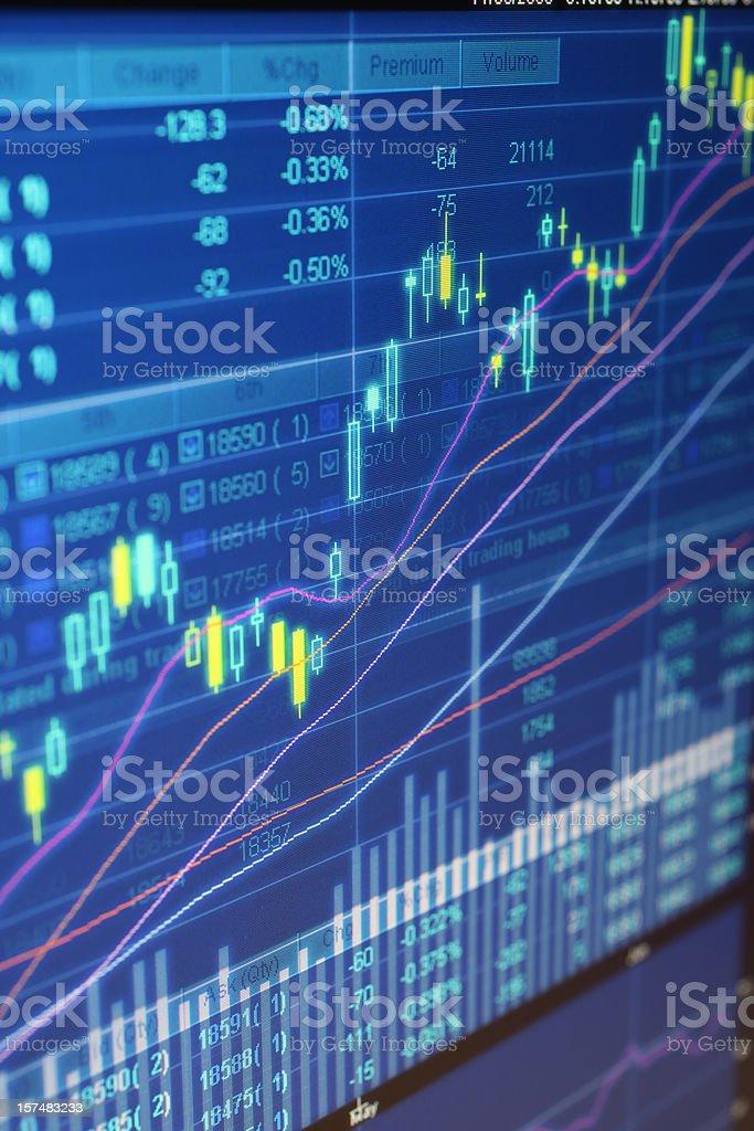 Digital Stock Chart royalty-free stock photo