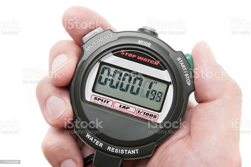 Digital Stopwatch stock photo