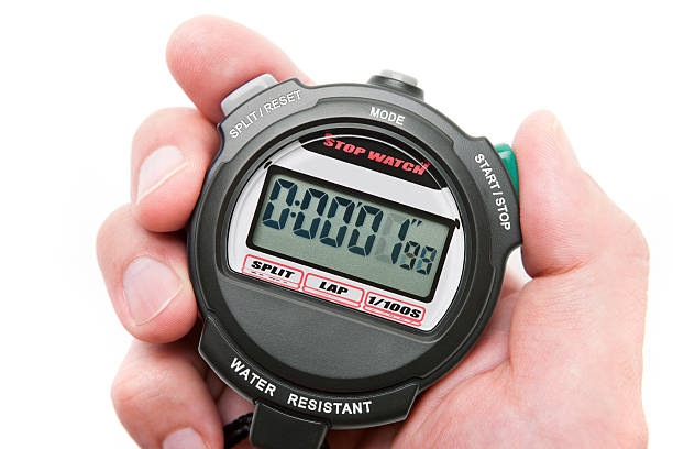 digital stopwatch - stop watch stock photos and pictures