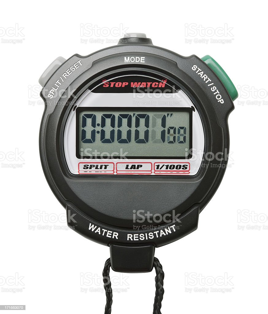 Digital Stopwatch royalty-free stock photo