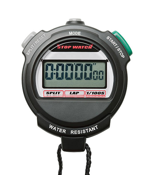 digital stopwatch - stopwatch stockfoto's en -beelden