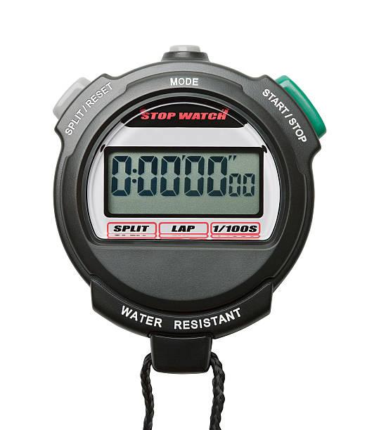 digital stopwatch - clipping path stockfoto's en -beelden