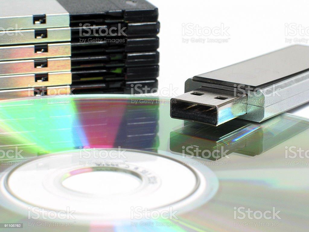 Digital storage royalty-free stock photo
