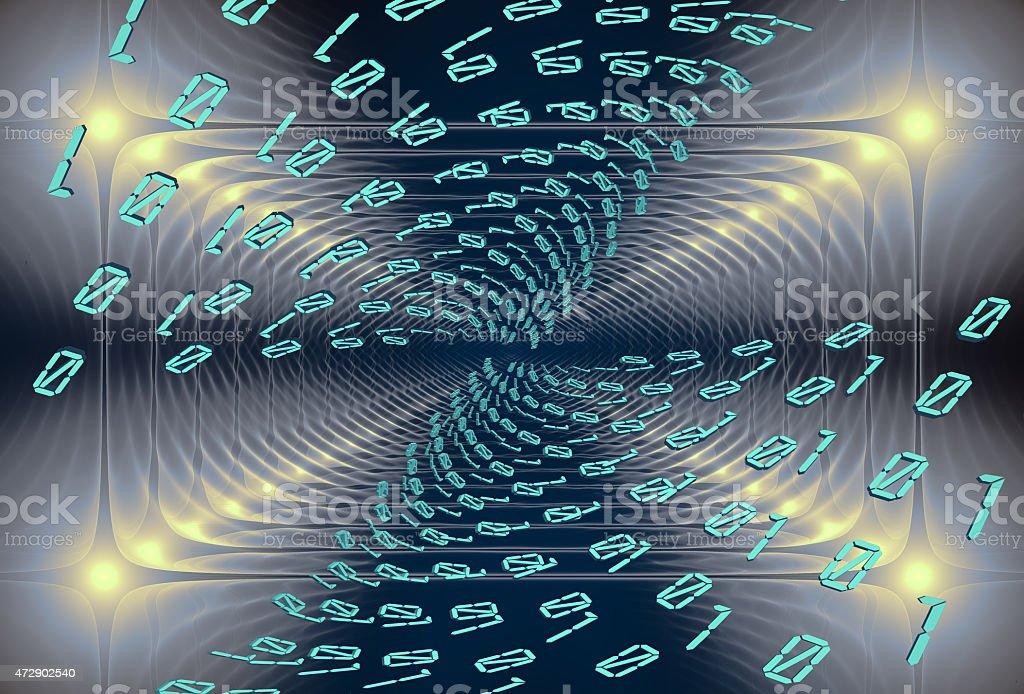 Digital stream, abstract modern background stock photo