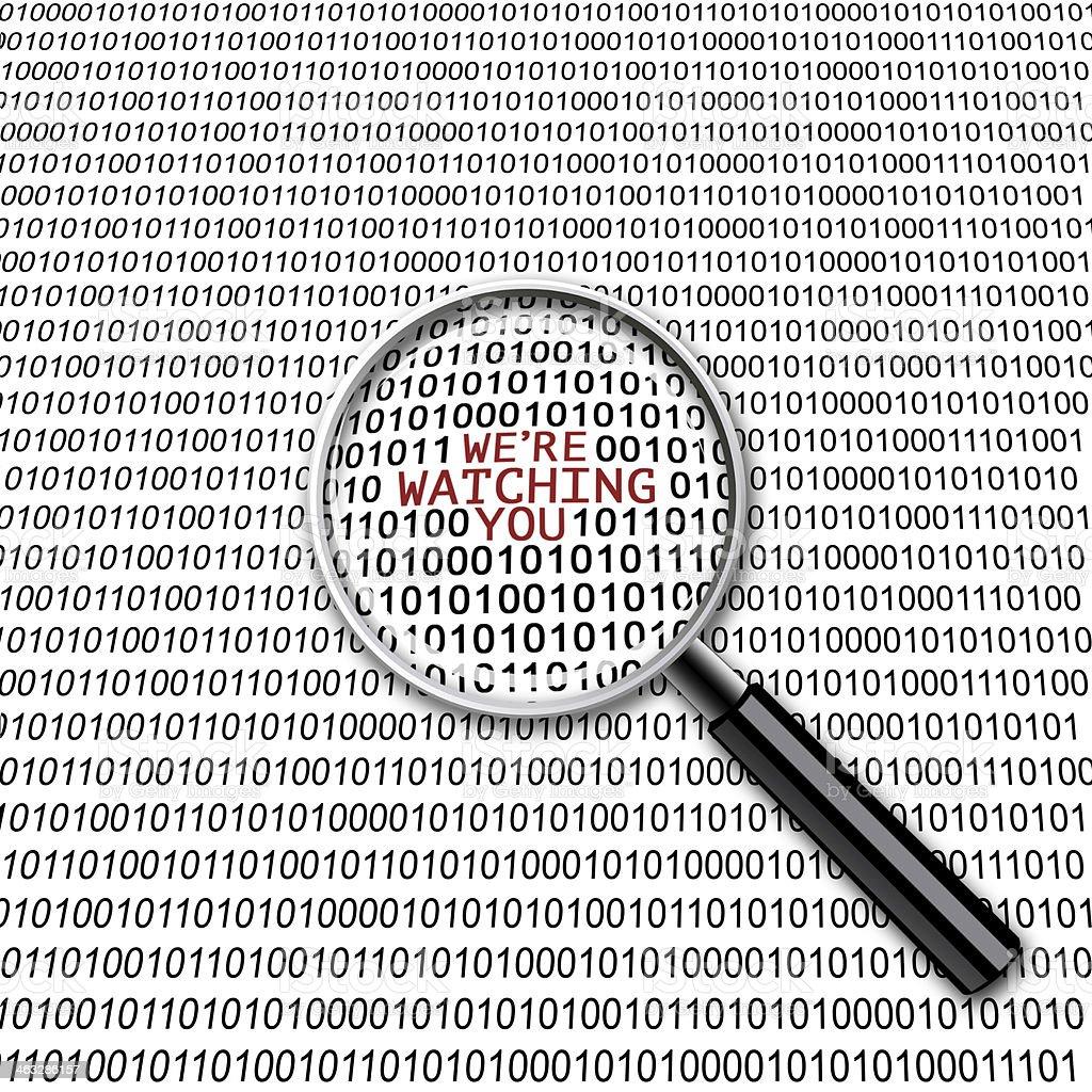 Digital vigilância lupa - foto de acervo