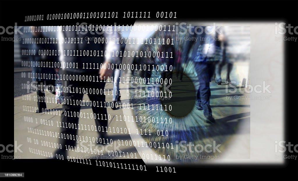 Digital Surveillance. stock photo