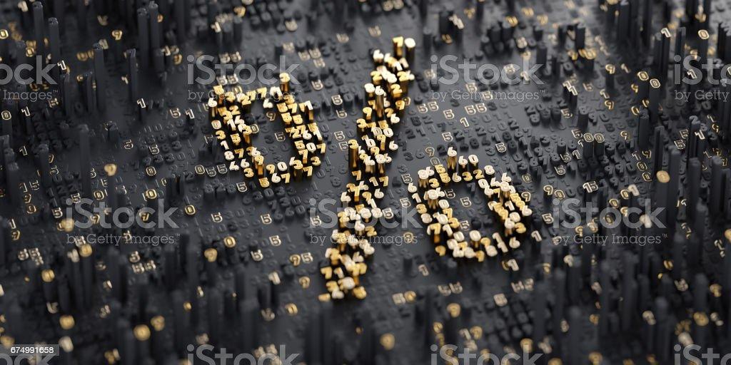 Digital Symbol. Percent - Foto stock royalty-free di Affari