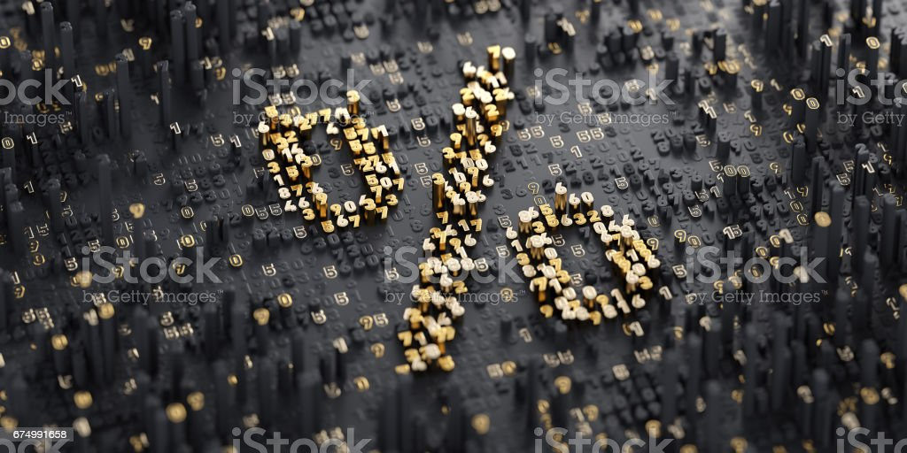Digital Symbol. Percent stock photo