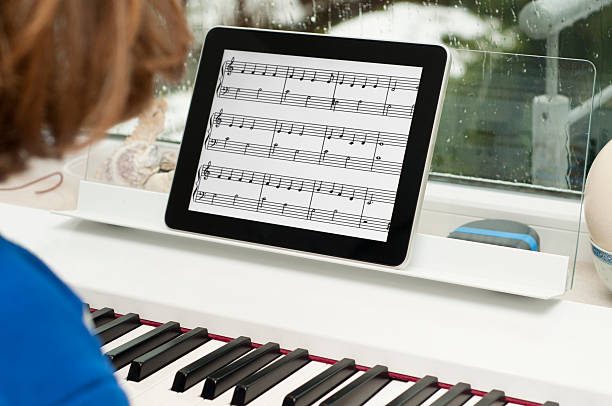 Digitale tablet wie Musik Blatt – Foto