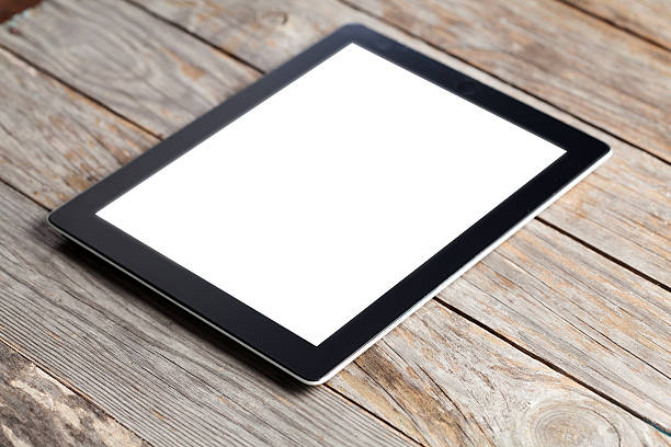 digitale tablet-computer - unterrichtsplanung vorlagen stock-fotos und bilder