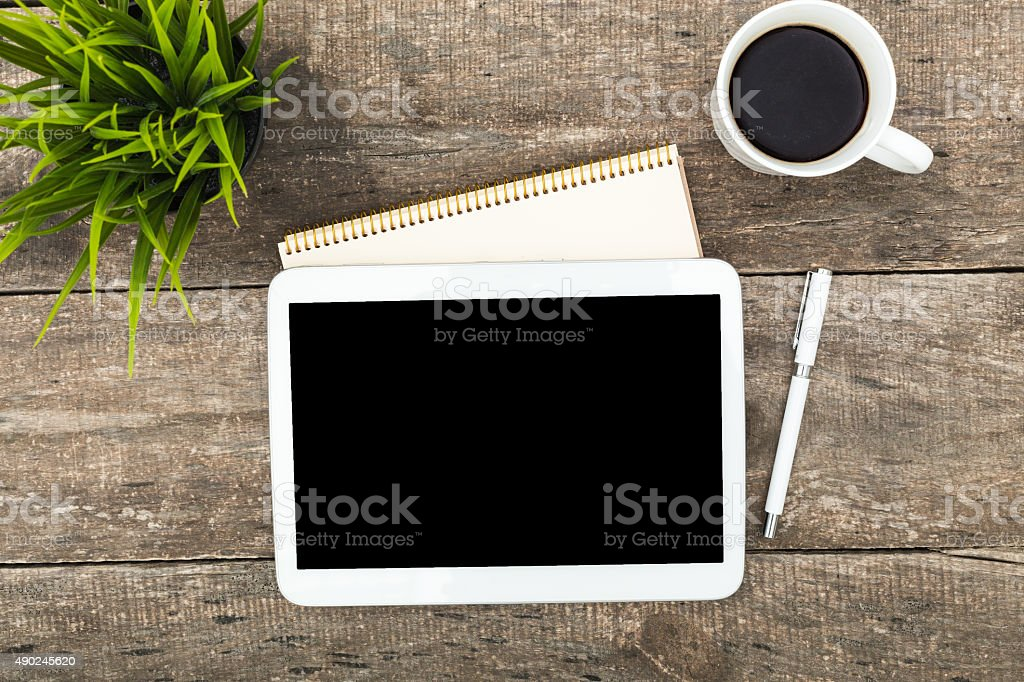 Digital tablet computer stock photo