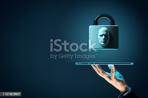 istock Digital tablet face detection and identification concept 1151923837