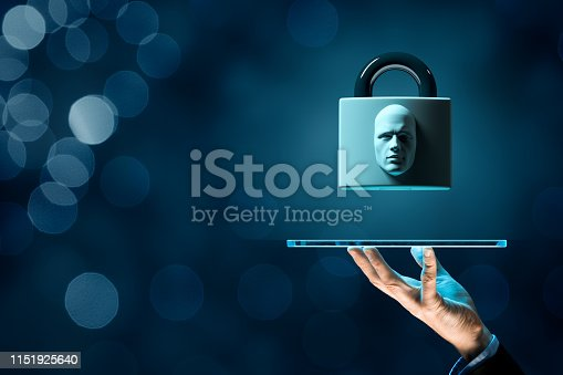 istock Digital tablet face detection and identification concept 1151925640
