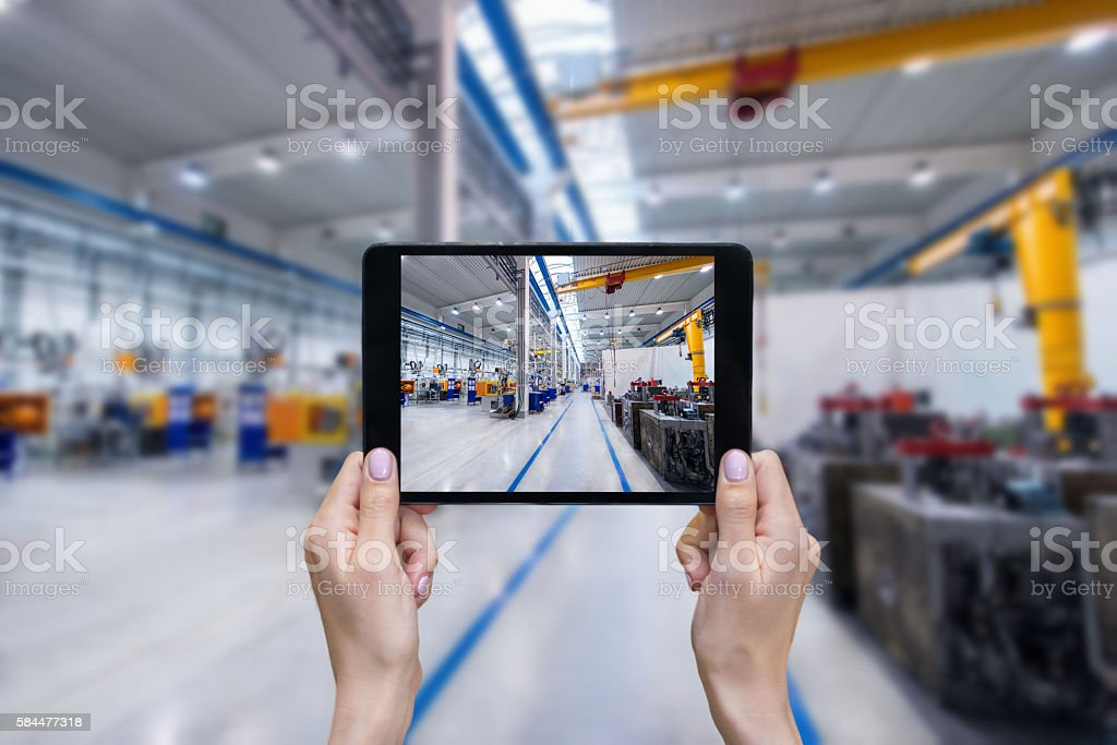 Digital tablet & Factory stock photo