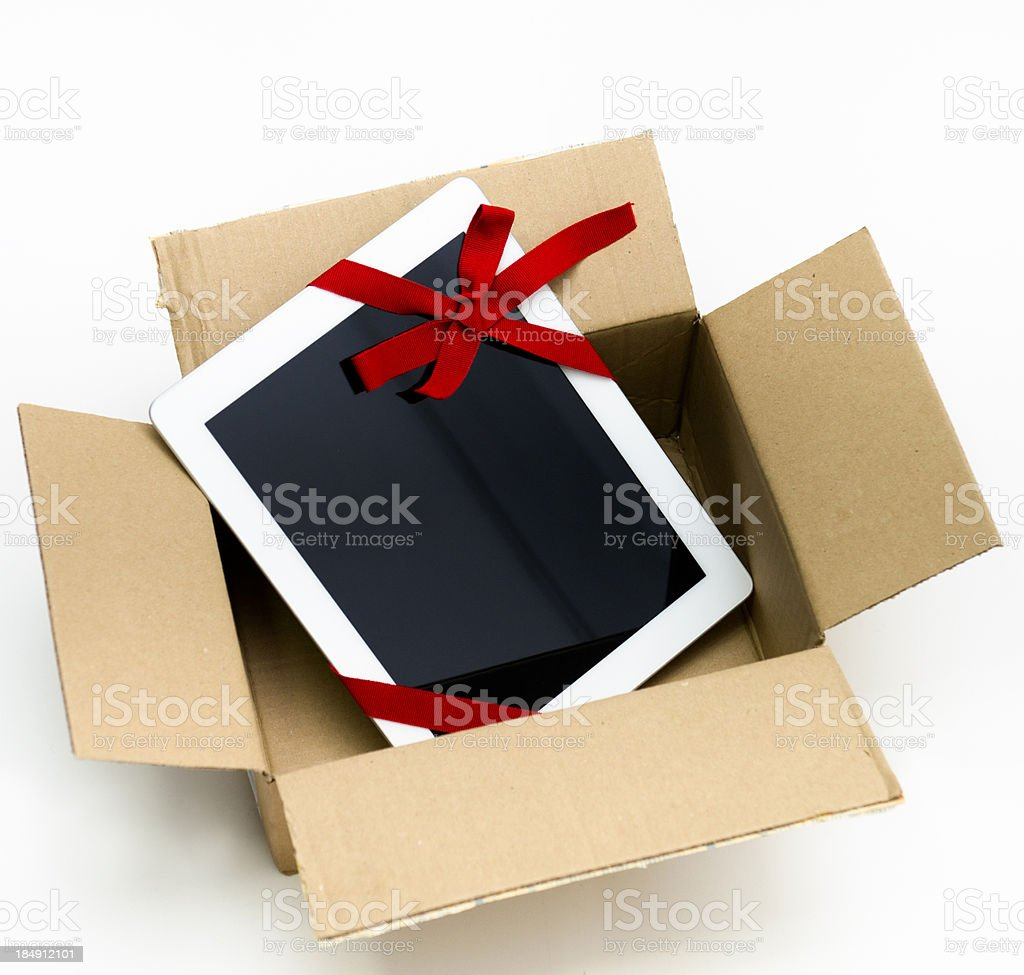 Digital tablet gift in the box