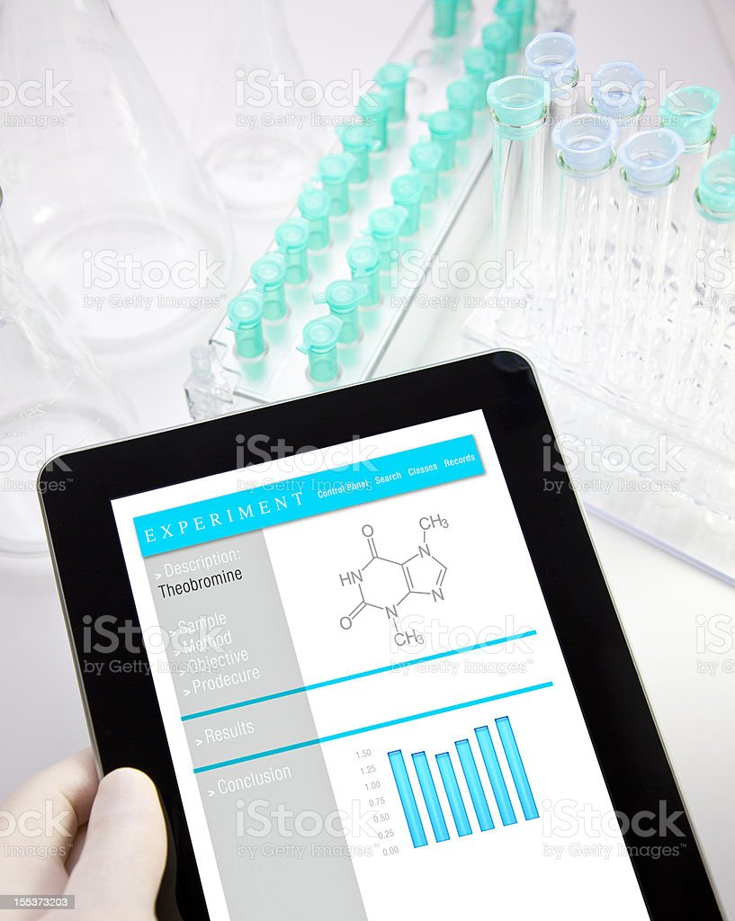 Digital Tablet in Lab royalty-free stock photo