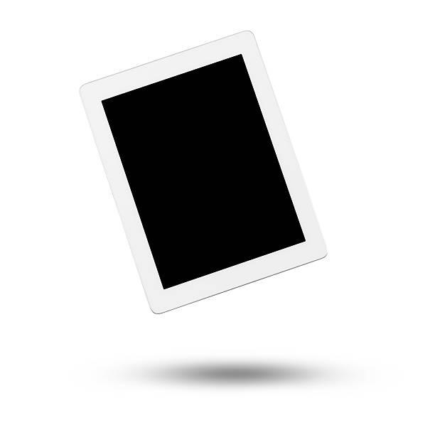 digital tablet isolato su sfondo bianco galleggianti - levitazione foto e immagini stock