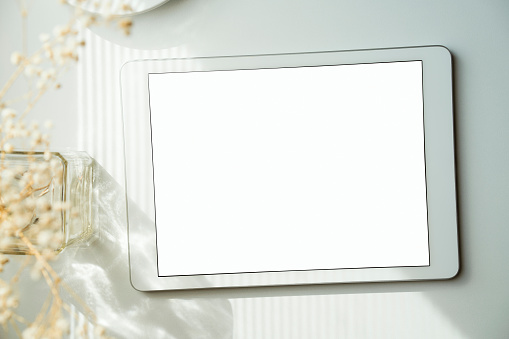 Digital tablet mockup, template