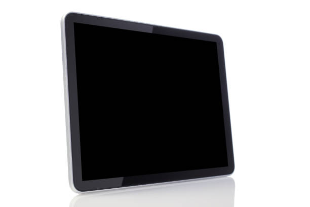 Digital Tablet on White Background stock photo