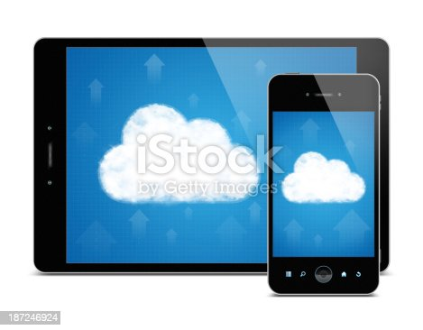 istock Digital Tablet PC and Smart Phone (Clipping path!) isolated 187246924