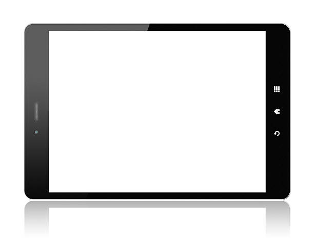 digital tablet pc (clipping path!) isolated on white - 剪輯路徑 個照片及圖片檔