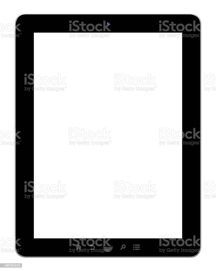 Digital Tablet PC (Clipping path) royalty-free stock photo
