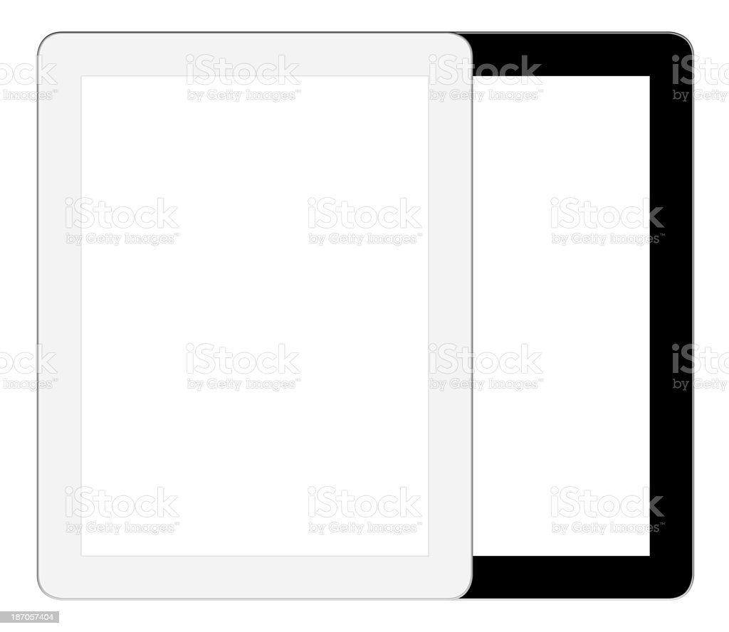 Digital Tablet PC (Clipping paths) royalty-free stock photo