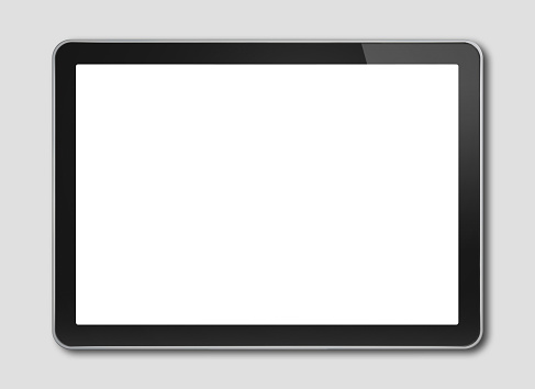 Digital tablet pc, smartphone template isolated on grey