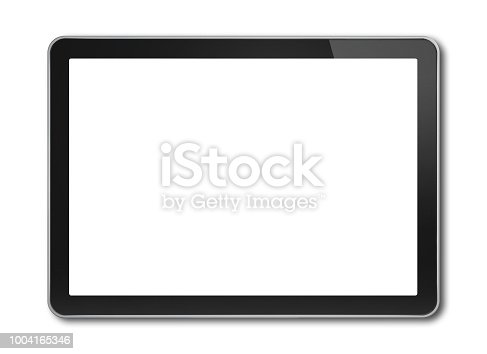 Horizontal Digital tablet pc, smartphone mockup template. Isolated on white