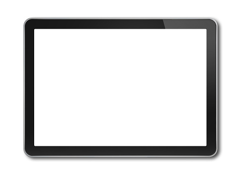 Digital tablet pc, smartphone template isolated on white