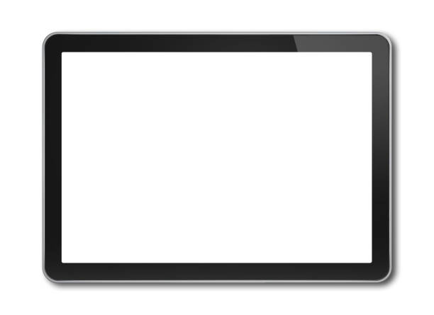 Digital tablet pc, smartphone template isolated on white Horizontal Digital tablet pc, smartphone mockup template. Isolated on white ipad stock pictures, royalty-free photos & images