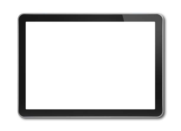 デジタル タブレット pc、スマート フォン テンプレート白で隔離 - タブレット端末 ストックフォトと画像