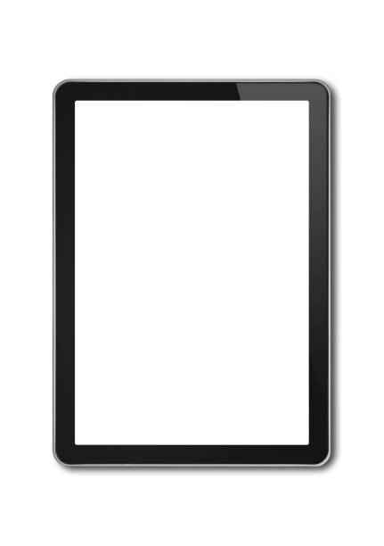 digital tablet pc, smartphone template isolated on white - tablet stock photos and pictures