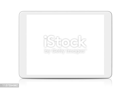 White Digital Tablet isolated on white