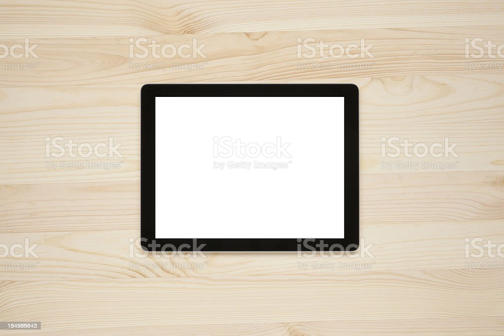 Digital tablet with a blank screen royalty-free stock photo
