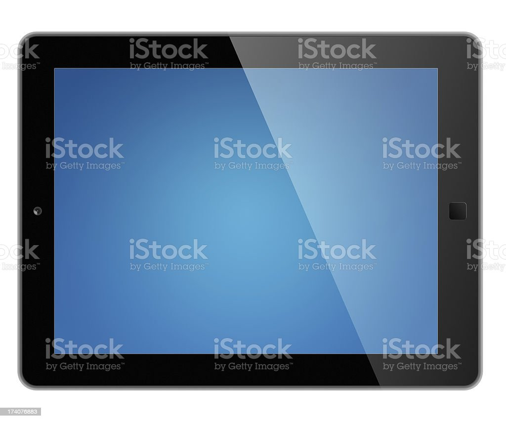 Digital tablet with clipping path for screen royalty-free stock photo