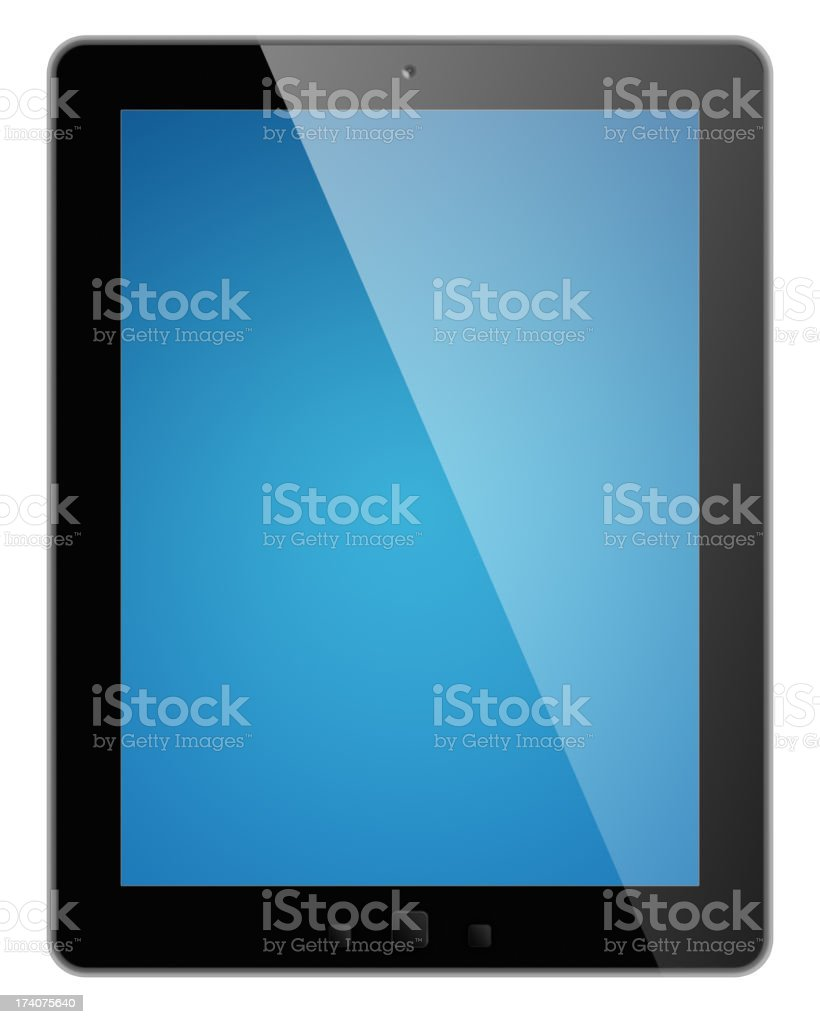 Digital tablet with clipping paths royalty-free stock photo