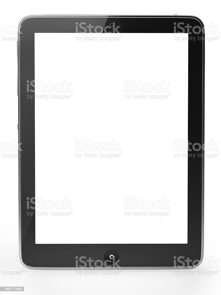 Digital tablet with clipping paths stock photo