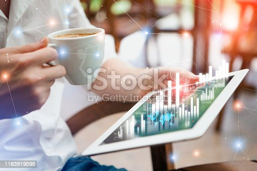 istock Digital tablet with innovation interface 1163919595