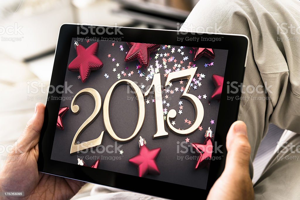 Digital tablet with the 2013 picture royalty-free stock photo